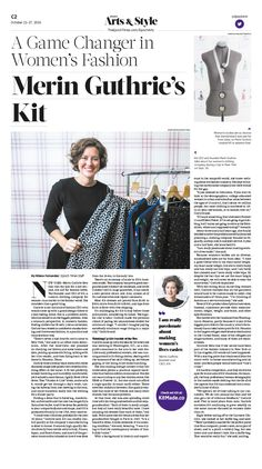 A Game Changer in Women's Fashion Merin Guthrie's Kit|Epoch Times #Cloth #newspaper #editorialdesign