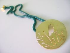 Bird on a branch,made of brass