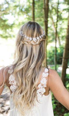 waterfall wedding hairstyle via LottieDaDesigns - Deer Pearl Flowers / http://www.deerpearlflowers.com/wedding-hairstyle-inspiration/waterfall-wedding-hairstyle-via-lottiedadesigns/