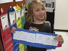 To practice sequencing in December, kids make a How-To Make a Snowman page.