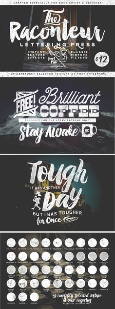 Raconteur Lettering Press texture pack by Gearwright #designtoold #design #textures