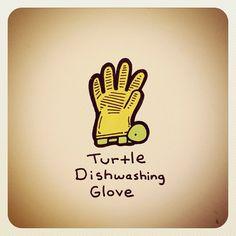 Turtle Dishwashing Glove - @turtlewayne- #webstagram