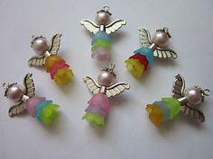 6-x-Handmade-Guardian-Angel-Fairy-Charms-Pendants-glass-beads-mix-26-mm