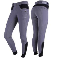 Harmaat QHP Manon Ratsastushousut on perinteiset hillityn tyylikkäät ratsastushousut, korkealla vyötäröllä ja kokopaikoilla. Sweatpants, Skinny Jeans, Fashion, Moda, Fashion Styles, Fashion Illustrations