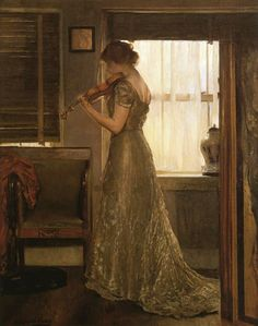 The Violinist (1902).Joseph DeCamp (1858–1923). Oil on canvas. Private collection.