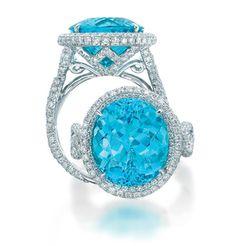 JB Star.  It looks like either Paraiba Tourmaline or Swiss Blue Topaz, either way...Gorgeous!