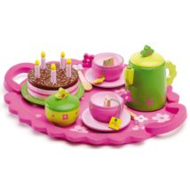 Djeco - Birthday Party Tea Time Tea Set: This sweet wooden birthday tea party set from Djeco encourages imaginative play. With everything she could need for a fabulous birthday gathering with friends she's sure to be the host with the most in no time. Afternoon Tea Set, Childrens Tea Sets, Teddy Bear Birthday, Tea Party Setting, Party Trays, Fabulous Birthday, Tea Party Birthday, Birthday Cake, Pink Birthday