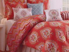 DENA Comforter Set TWIN Kalani Sham Decorative Pillow Vibrant Dorm NEW #DenaHome