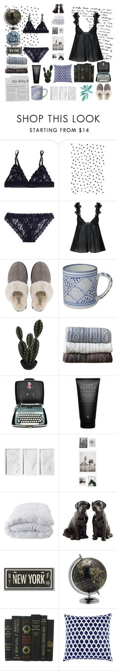 """Sleepless Night"" by maridrilla ❤ liked on Polyvore featuring STELLA McCARTNEY, Hanky Panky, La Perla, UGG, canvas, Abigail Ahern, Johanna Howard, Luna Bronze, Umbra and DENY Designs"