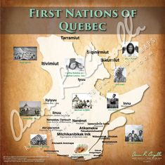 Tribal Nations of Quebec Map Native American Map, American Women, American Art, Indian Tribes, Native Indian, Social Studies Worksheets, Canadian History, First Nations, Nativity