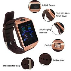 Save 80% on AMAZON with code 131RNG16 Pinned on 9/25/2018 bulges Bluetooth 3.0 Touch Screen Smart Wrist Watch Support SIM Card with Camera for Android iOS Wrist Watch Phone, Camera Watch, Phone 4, Cool Watches, Watches For Men, Fitness Tracker Band, Android Wear, Android Phones, Electronic Deals