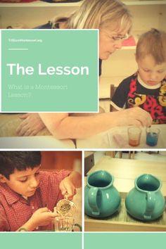 What is a Montessori Lesson?