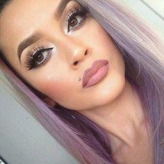 Love this makeup - Monroe piercing Flawless Makeup, Gorgeous Makeup, Pretty Makeup, Love Makeup, Makeup Tips, Makeup Looks, Hair Makeup, Piercings Monroe, Face Piercings