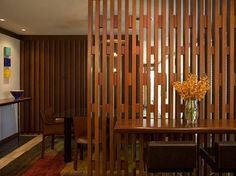 Custom Wood Screen Between Living And Dining Room By DCARCHCOM Cool Detailing