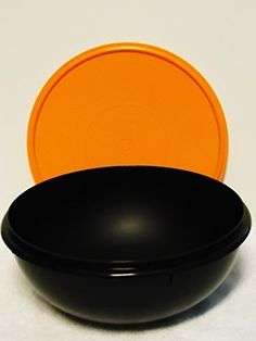 Tupperware 26 Cup Fix N Mix Bowl Black with Orange Seal * Continue to the product at the image link.