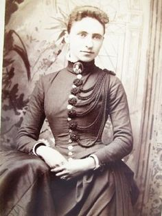 military inspired bustle 1880s dress