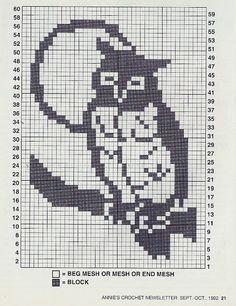 How to crochet an owl - tutorial Owl Crochet Patterns, Crochet Birds, Owl Patterns, Thread Crochet, Crochet Stitches, Cross Stitch Owl, Beaded Cross Stitch, Counted Cross Stitch Patterns, Filet Crochet Charts