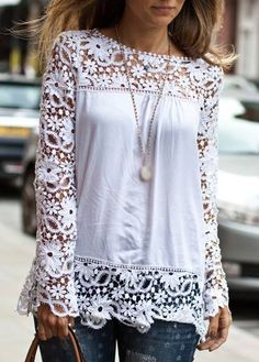 This is such a beautiful top- the lace details are truly what make this top so amazing!