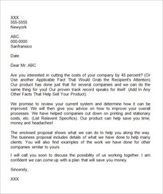 Business Proposal Letter Writing  A Business Proposal Letter
