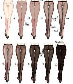 Coloring sheer tights
