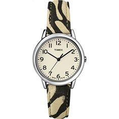 Timex Womens  Leopard Pattern Strap SilverTone Case  Dress Watch T2N967 -- Read more  at the image link.
