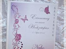Gästebuch zur Hochzeit,Lila-Pink,Gästebuch,100