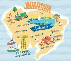 Anna Simmons - map of Cumbria