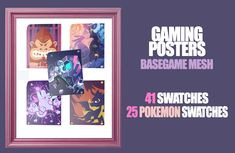 Gaming + Pokemon PostersOriginal INFO Thank you anon for the request! ♥ I never knew I needed this myself lolAnd thanks to for helping me out with more ideas ♥ If you have ideas for. Pokemon Poster, Sims 4 Clutter, Gaming Posters, Sims 1, Sims 4 Custom Content, Thankful, Games, Ideas, Gaming