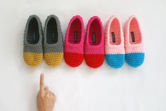 Crochet+Slippers+in+Peanut+Butter+and+Slate+by+WhiteNoiseMaker,+$19.00