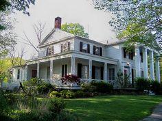 greek revival house in Goshen, New York
