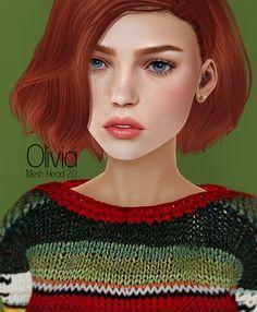 https://flic.kr/p/zgc3Fd   Olivia Mesh Head @Season Story   Hair: Bold&Beauty Sweater: REBELGAL