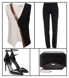 """""""Outfit # 2529"""" by voltinimiriam ❤ liked on Polyvore featuring Bouchra Jarrar, Chloé, Tamara Mellon and Givenchy"""