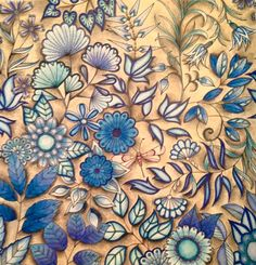 Trendy drawing flowers pencil secret gardens 59 ideas What design ideas are there Secret Garden Coloring Book, Secret Garden Book, Lost Ocean, Johanna Basford Secret Garden, Johanna Basford Coloring Book, Caran D'ache, Colouring Techniques, Color Pencil Art, Colorful Garden
