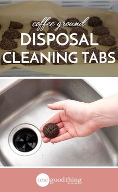 Clean and freshen your garbage disposal using coffee grounds! These easy-to-make cleaning tabs use coffee to eliminate unwanted odors naturally.