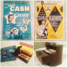 Hemsby finds. These brilliant Johnny cash and Charlie feathers venue posters. Johnny cash vinyl and this vintage record box #hemsby #hemsby56 #johnnycash #charliefeathers #vintage #vinyl #records #recordbox #poster #rocknroll #rockabilly #countrymusic #psychobilly #greaser by rockabilly_reynolds https://www.instagram.com/p/BFQeMQgMJ5X/ #jonnyexistence #music