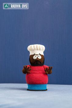 Crochet Pattern of Chef from South Park Amigurumi door Aradiya