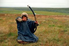 Nenets boy with bow & arrow hunting ptarmigan (kiiruna) for the pot on the migration. Archery Tips, Hunter Gatherer, Traditional Archery, African Tribes, Bow Arrows, Light And Shadow, Athlete, Hunting, Bows
