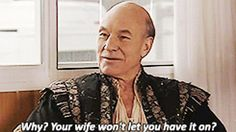 Patrick Stewart on Extras Like this.