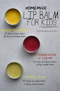 Flavorful and Natural Homemade Lip Balm for Kids