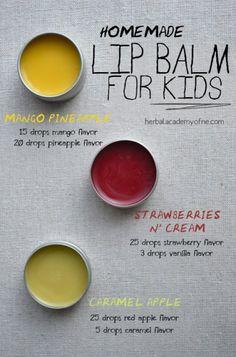 Natural Homemade Lip Balm for Kids - Herbal Academy