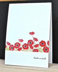 Stampin& Up ideas and supplies from Vicky at Crafting Clare& Paper Moments: Less is More Challenge - using Punch Bunch Scrapbook Cards, Scrapbooking, Cardio Cards, Poppy Cards, Penny Black, Card Making Inspiration, Flower Cards, Cute Cards, Creative Cards
