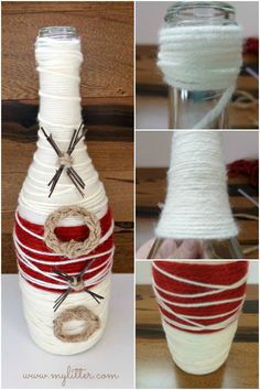 xoxo Valentine's Day Bottle Vase how to
