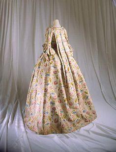 French silk Robe a la Francaise 1750-75