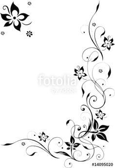 """Laden Sie den lizenzfreien Vektor """"Blumenranke, Blüten filigran, Schnörkel"""" von christine krahl zum günstigen Preis auf Fotolia.com herunter. Stöbern Sie in unserer Bilddatenbank und finden Sie schnell das perfekte Stockbild für Ihr Marketing-Projekt!"""