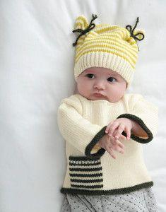 Modèle bonnet bicolore Layette More