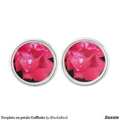 Shop Droplets on petals Cufflinks created by Personalize it with photos & text or purchase as is! Designer Cufflinks, Red Rose Petals, Waterproof Coat, Silver Bullet, Stylish Men, Studs, Create Yourself, Valentines, Valentine's Day