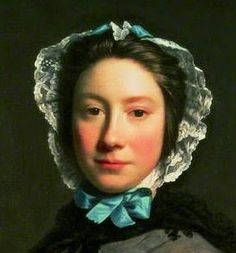 Detail from a portrait of Rosamund Sargent by Allan Ramsey, 1749  Isis' Wardrobe: 18th century wired caps
