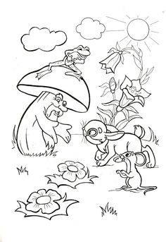 View album on Yandex. Disney Coloring Pages, Adult Coloring Pages, Coloring Pages For Kids, Mandala Coloring Pages, Colouring Pages, Coloring Books, Sequencing Pictures, Motifs Animal, Fantasy Life