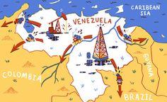 Venezuela map - Andrés Lozano Illustration