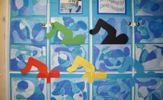 """The paintings have been put together to make an Olympic swimming pool complete with swimmers in the colours of the Olympic rings. Olympic Idea, Olympic Games, Olympic Swimming, Commonwealth Games, Art N Craft, Collaborative Art, Art Lessons Elementary, Middle School Art, Sports Art"
